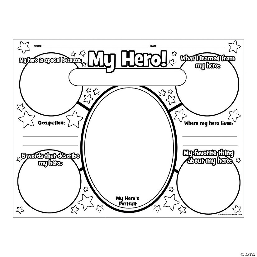 "Color Your Own ""All About My Hero"" Posters"