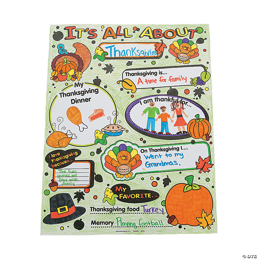 "Color Your Own! ""All About Thanksgiving"" Posters Audio Thumbnail"
