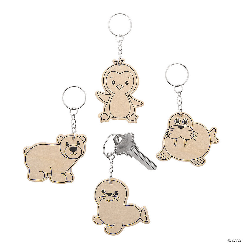 Color Your Own Arctic Animals Keychains