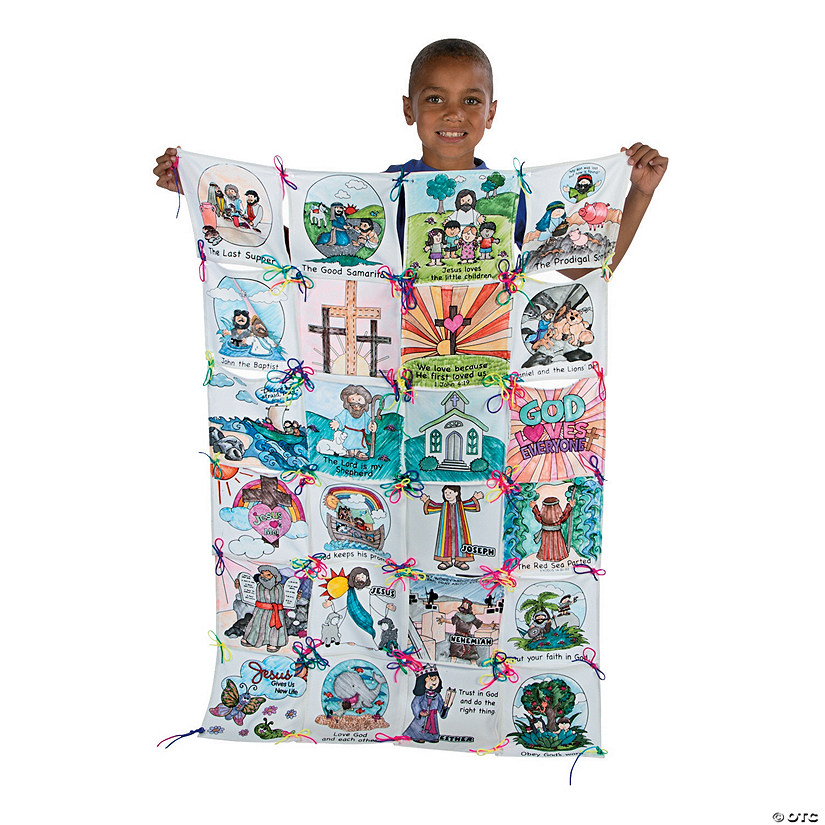 Color Your Own Bible Story Quilt Craft Kit Audio Thumbnail