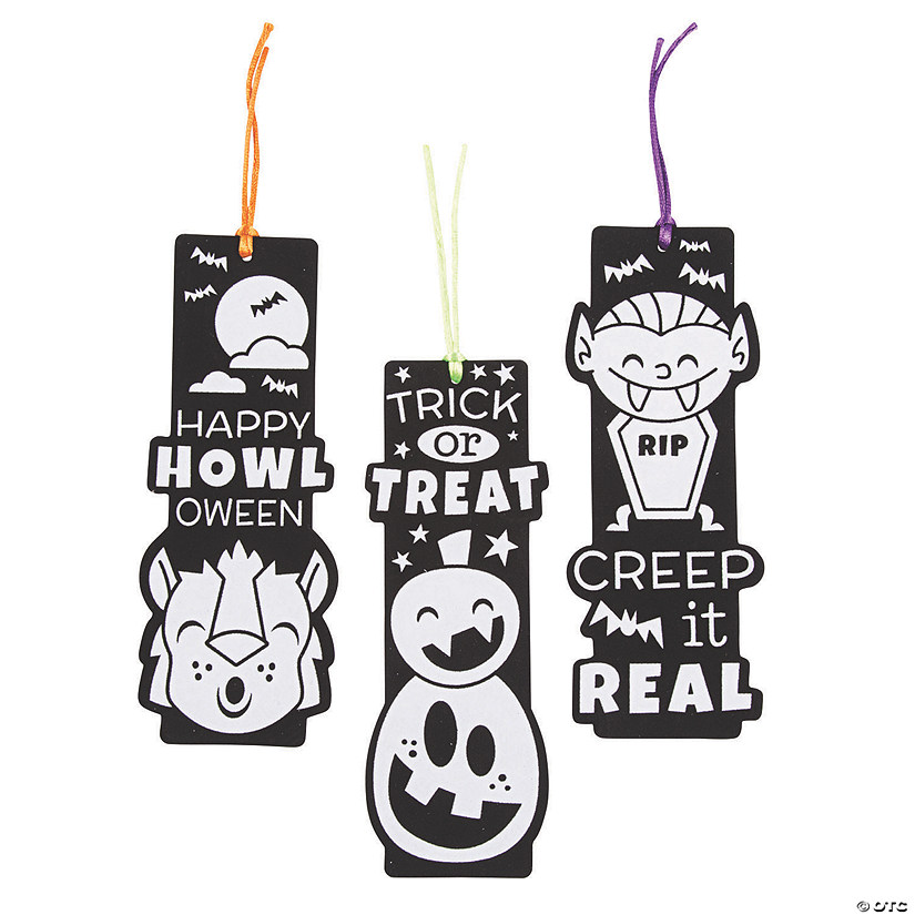 Color Your Own Black Fuzzy Halloween Bookmarks Audio Thumbnail