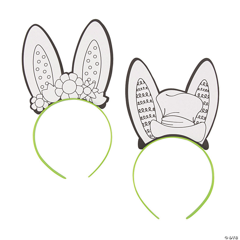 Color Your Own Bunny Ear Headbands