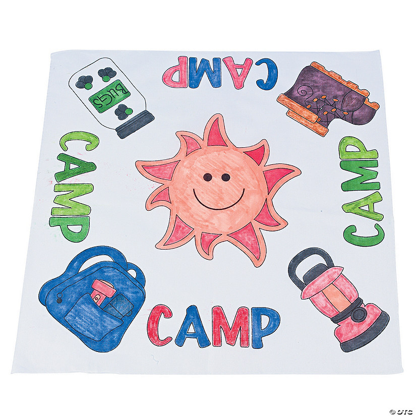 "Color Your Own ""Camp"" Bandanas"