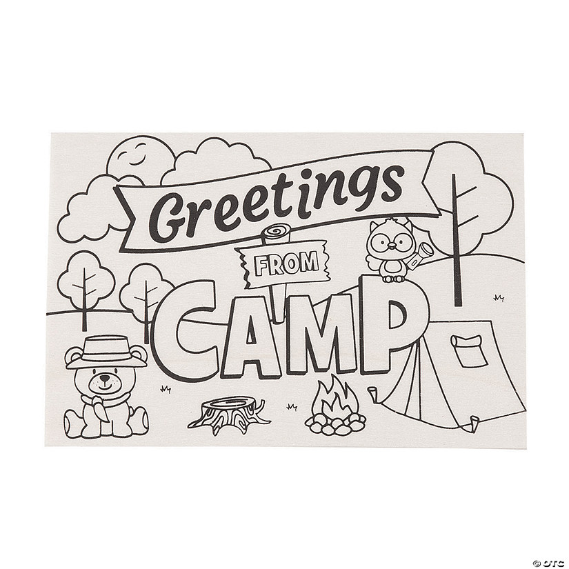 Color Your Own Camp Wooden Postcards Audio Thumbnail