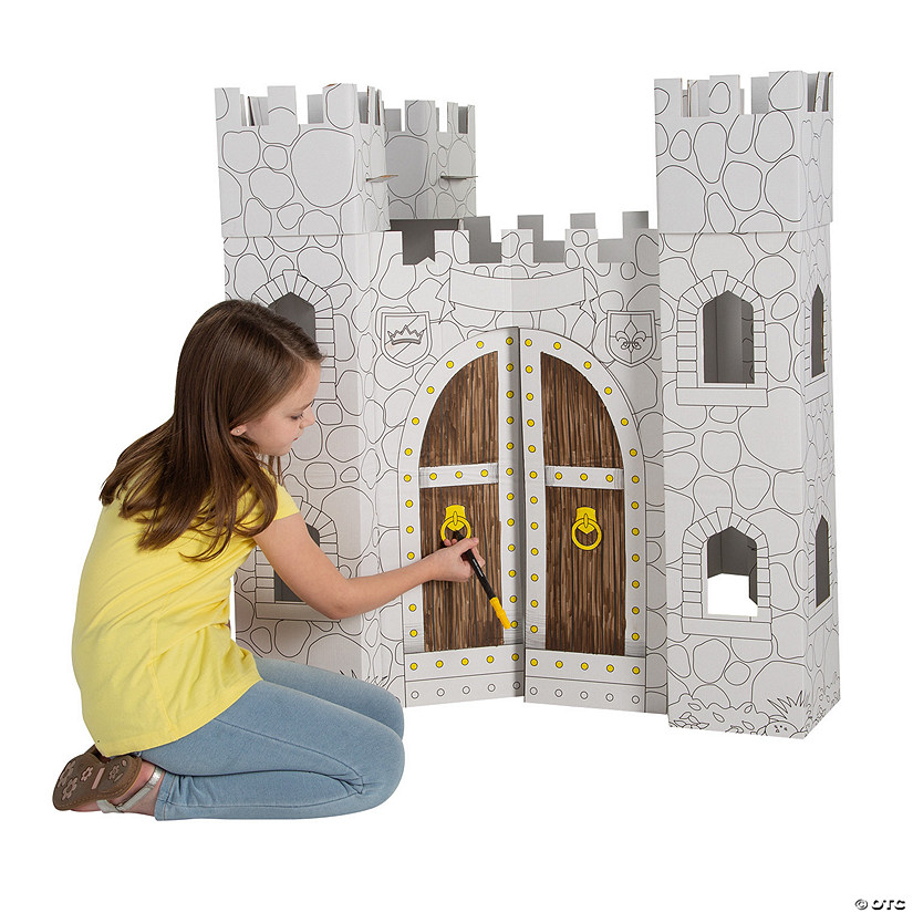 Color Your Own Castle Playhouse Image Thumbnail