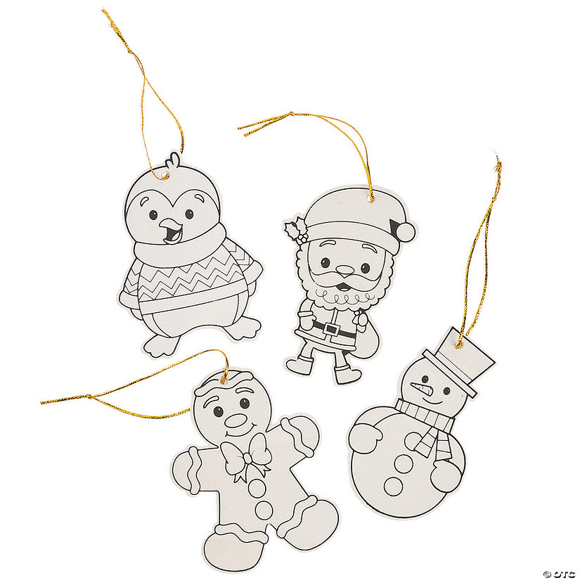 Color Your Own Christmas Character Ornaments Audio Thumbnail