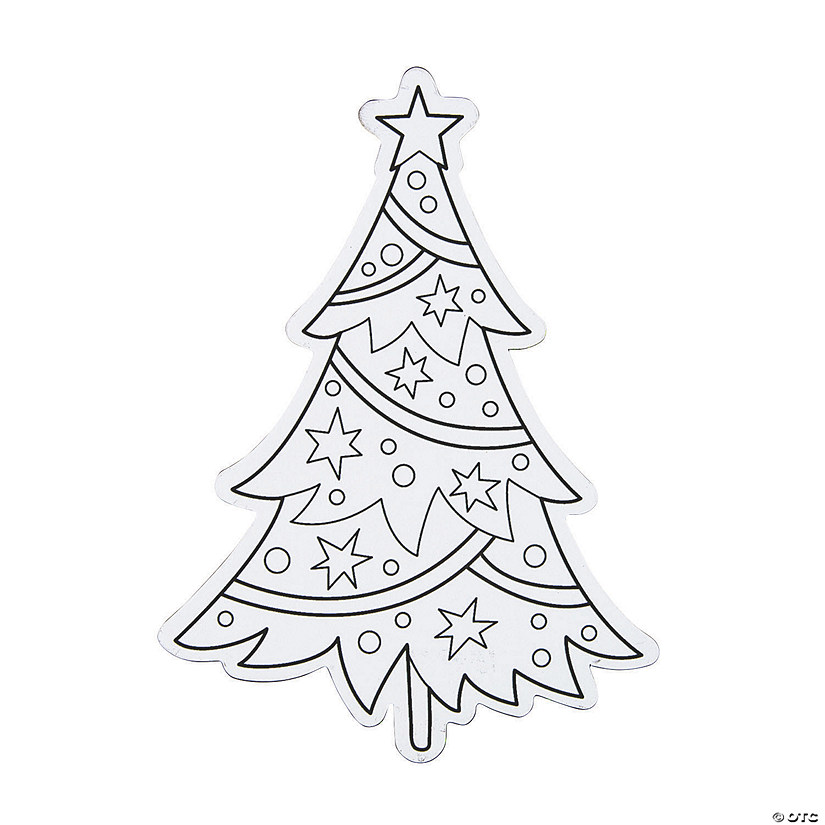 Color Your Own Christmas Tree Magnets