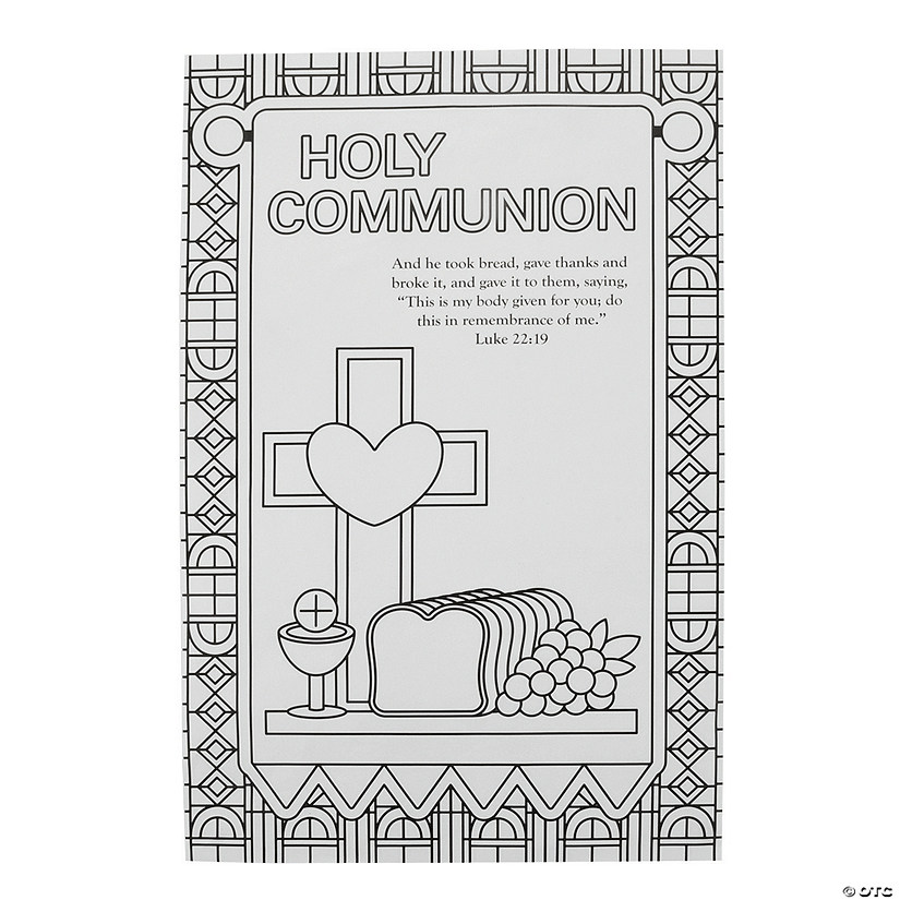 Color Your Own Communion Banners