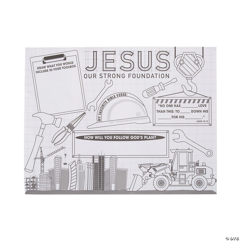 "Color Your Own ""Construction VBS"" Posters Image Thumbnail"