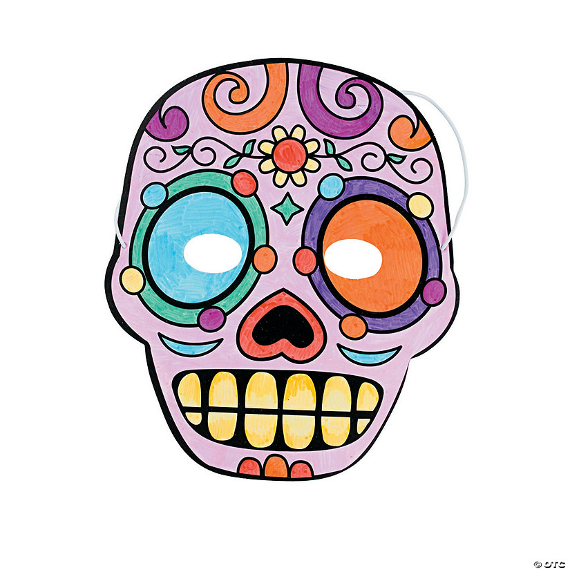 Color Your Own Day of the Dead Masks Image Thumbnail