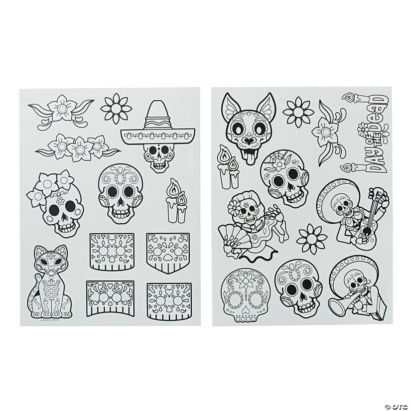 Color Your Own Day of the Dead Window Clings Audio Thumbnail