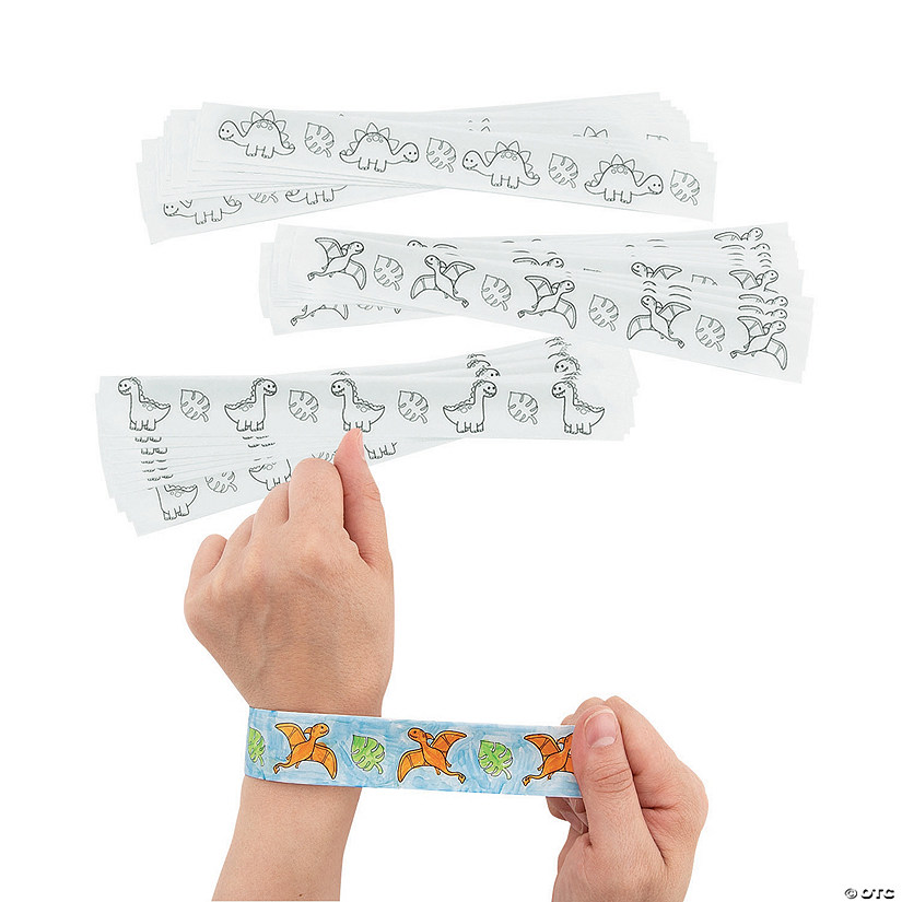 Color Your Own Dinosaur Slap Bracelets Audio Thumbnail