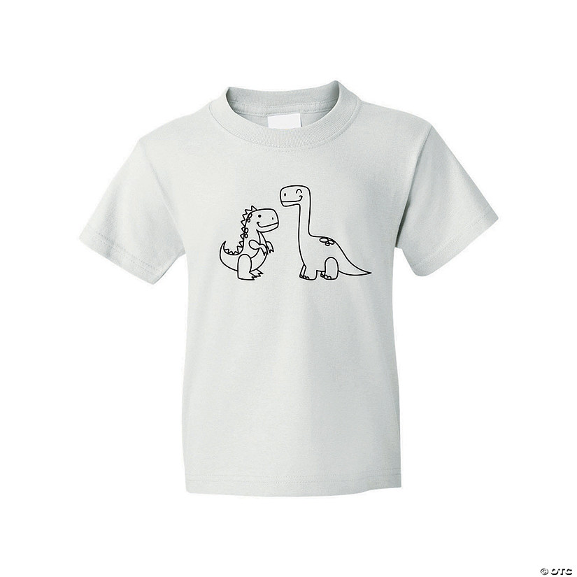 Color Your Own Dinosaur Youth T-Shirt Image Thumbnail