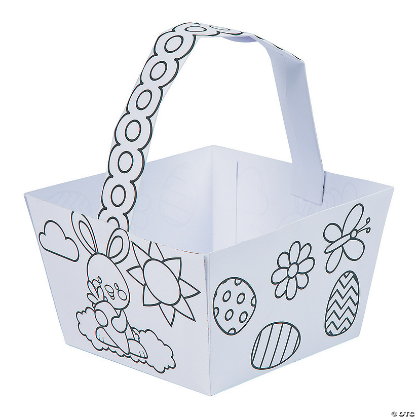 Color Your Own Religious Christmas Ornaments: Color Your Own Easter Baskets