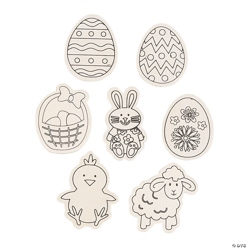 Color Your Own Easter Magnets Image Thumbnail