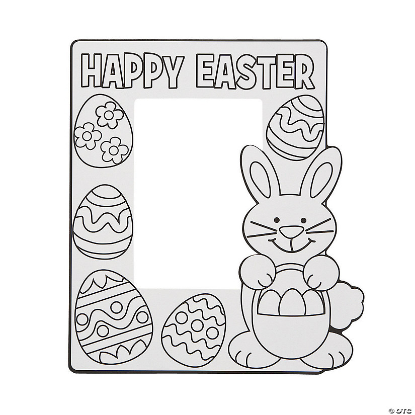 Color Your Own Easter Picture Frames Image Thumbnail
