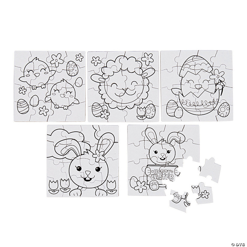 Color Your Own Easter Puzzles