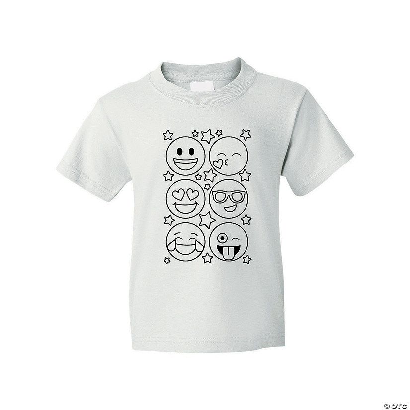 Color Your Own Emoji Youth T-Shirt Audio Thumbnail