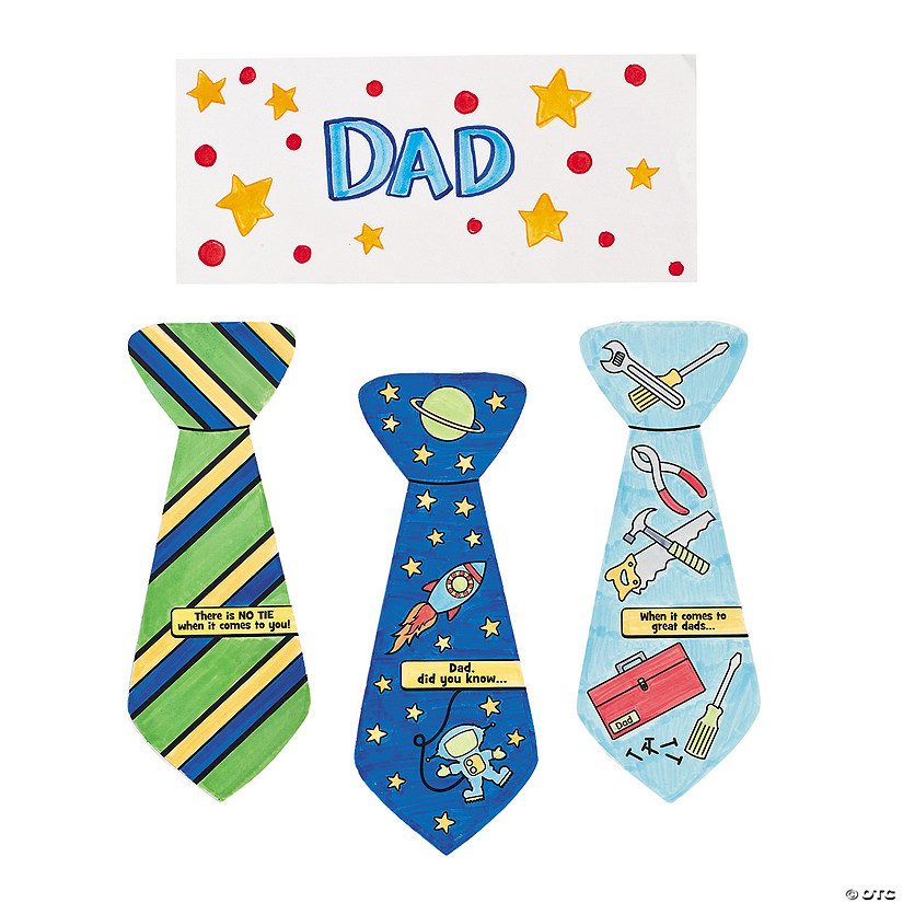 Color Your Own Father's Day Tie-Shaped Cards Audio Thumbnail