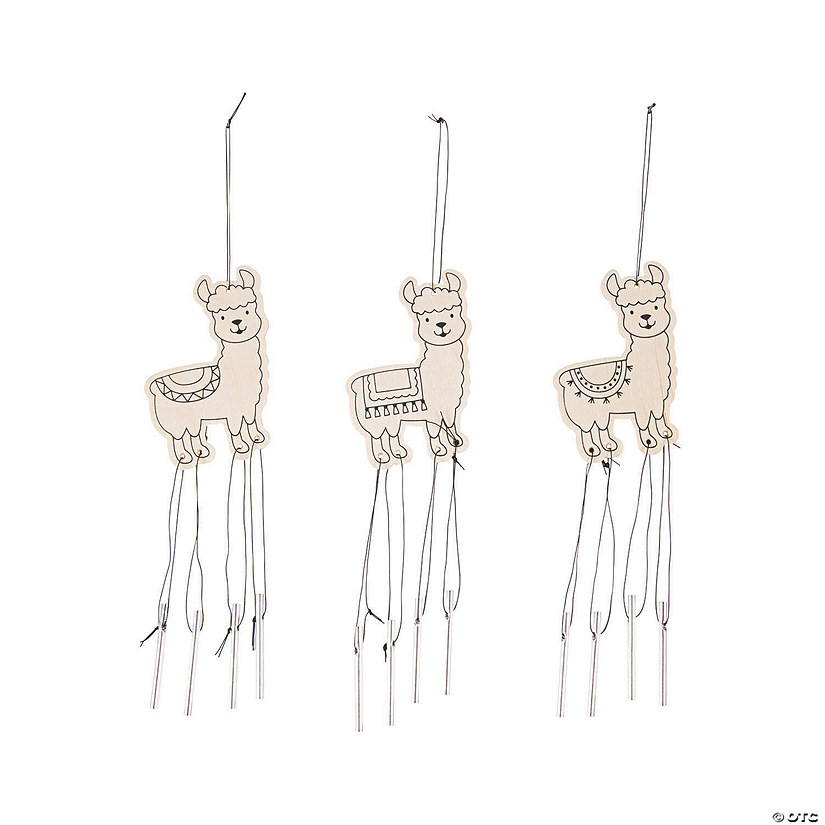 Color Your Own Fiesta Llama Wind Chimes Image Thumbnail
