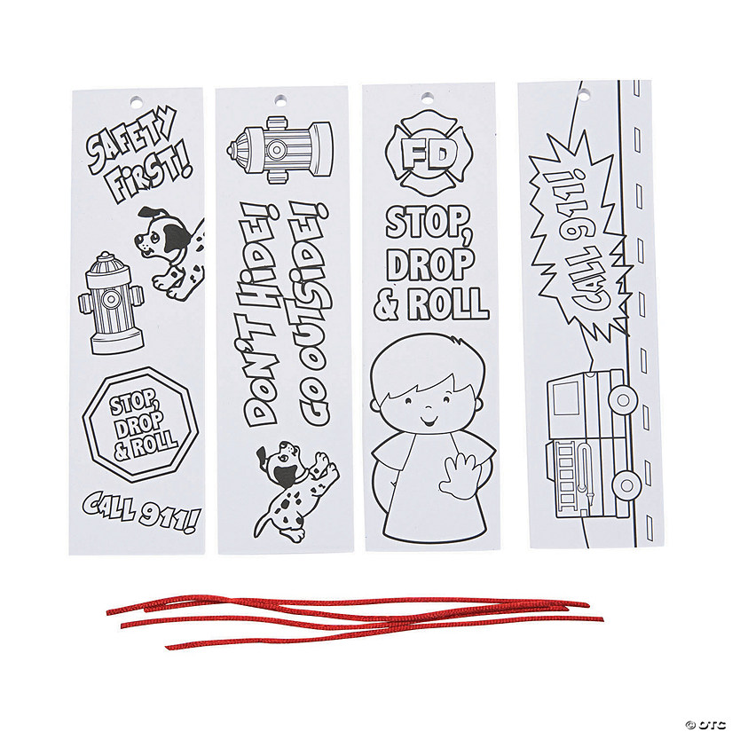 Color Your Own Fire Safety Bookmarks Image Thumbnail