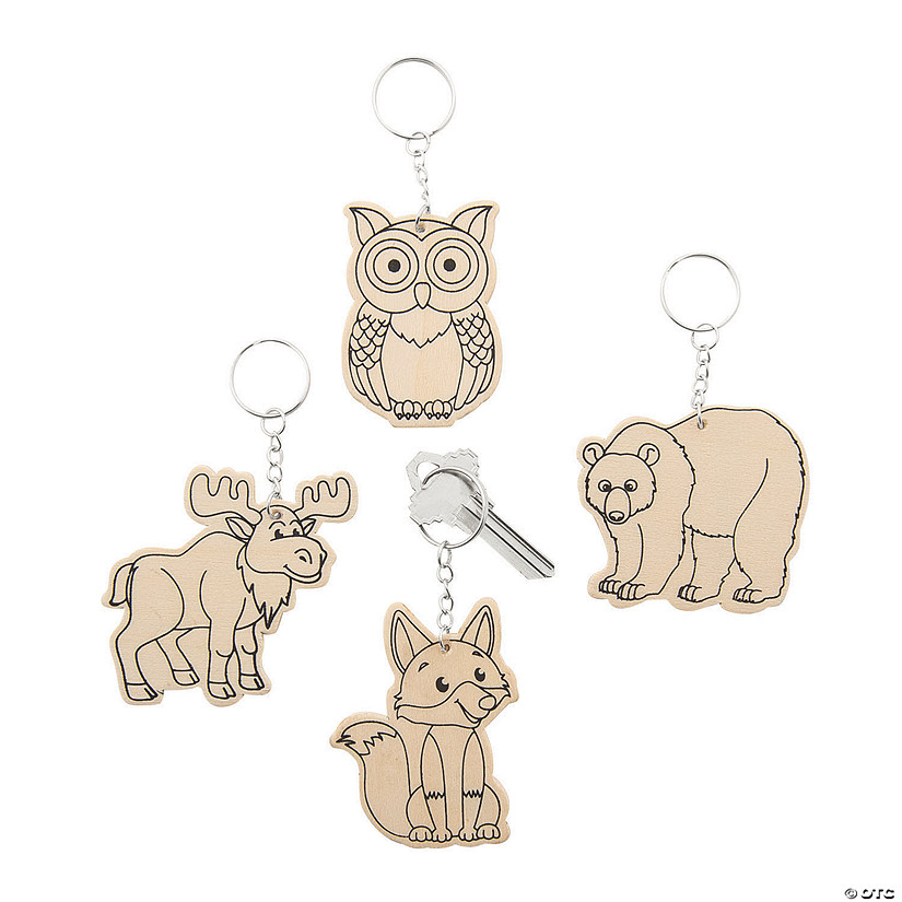 Color Your Own Forest Animal Keychains Audio Thumbnail