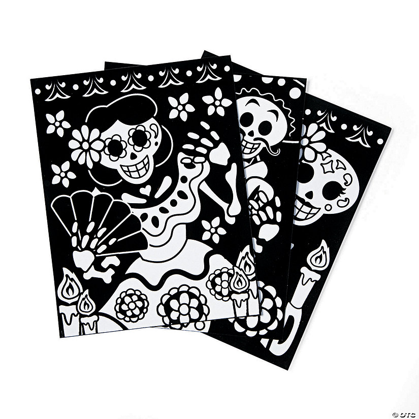 Color Your Own Fuzzy Day of the Dead Posters Image Thumbnail