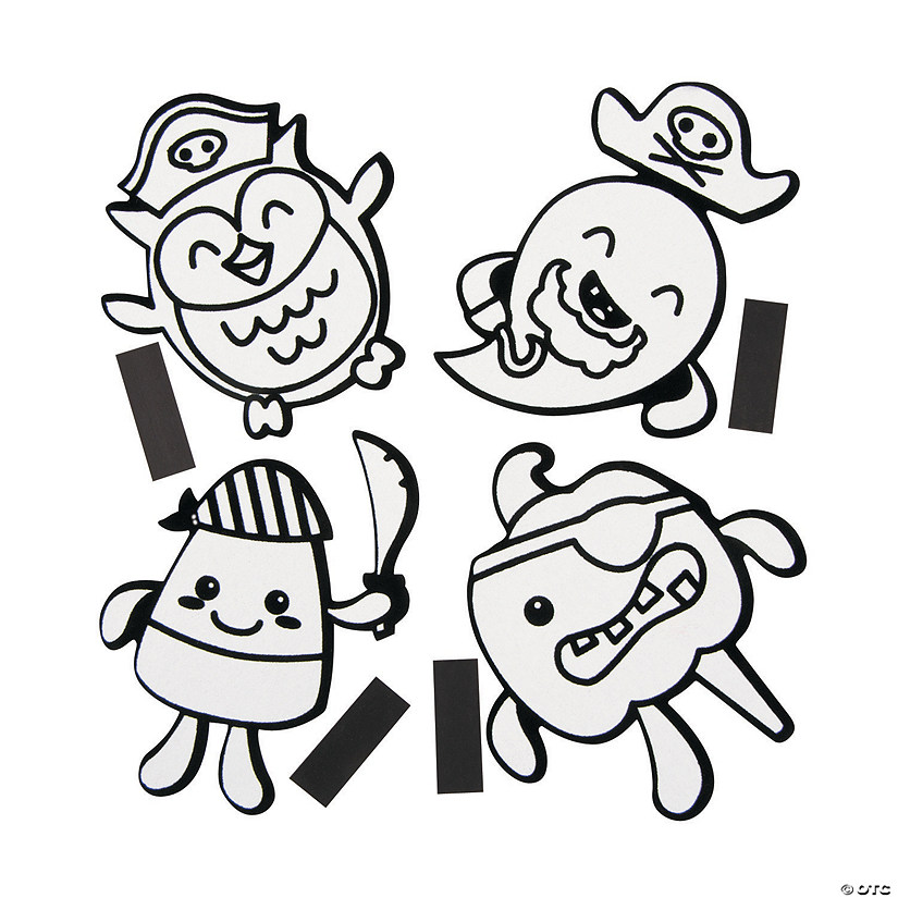 Color Your Own Fuzzy Halloween Pirate Magnets Audio Thumbnail