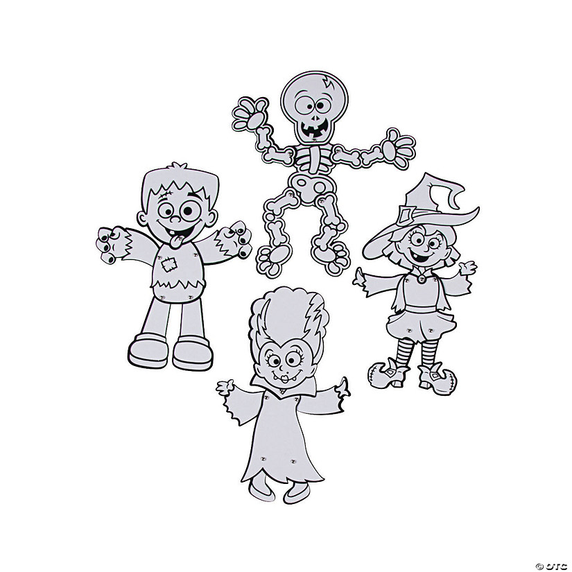 Color Your Own Fuzzy Jointed Halloween Characters Audio Thumbnail