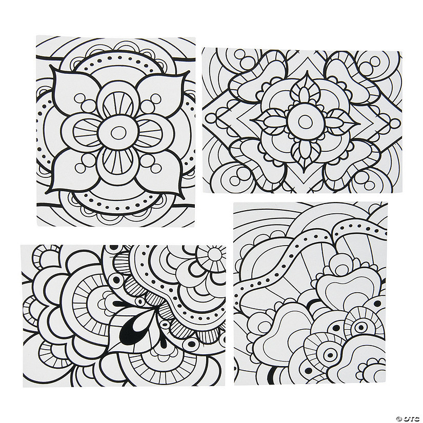 Color Your Own Fuzzy Mandala Posters Image Thumbnail