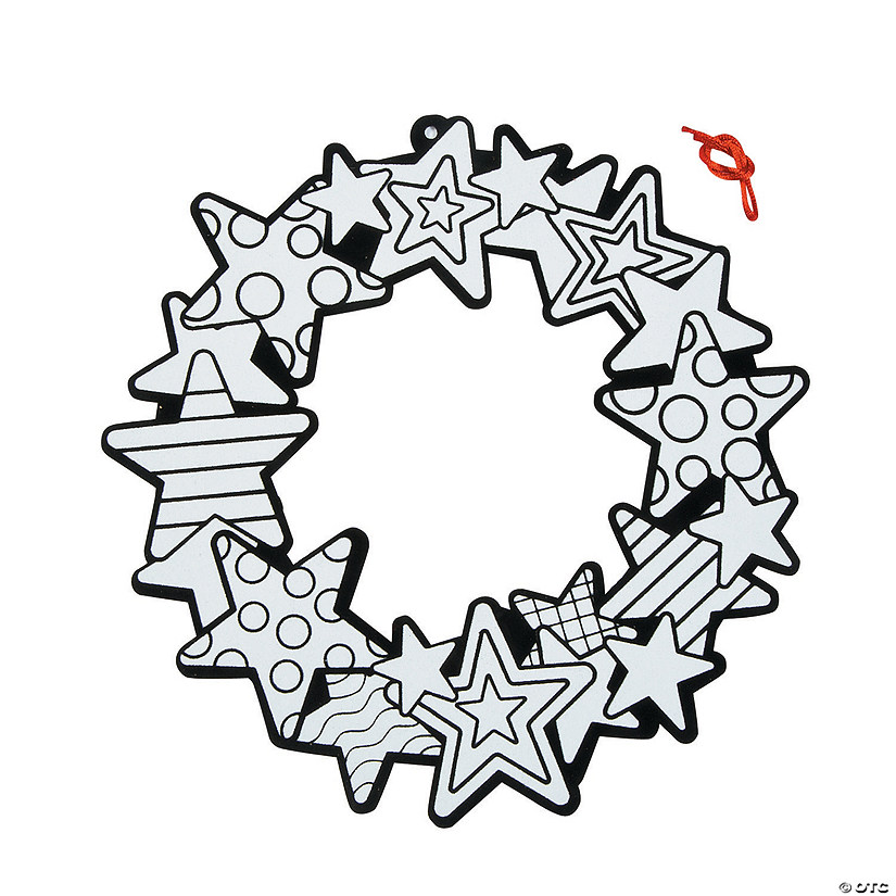 Color Your Own Fuzzy Patriotic Wreaths Audio Thumbnail