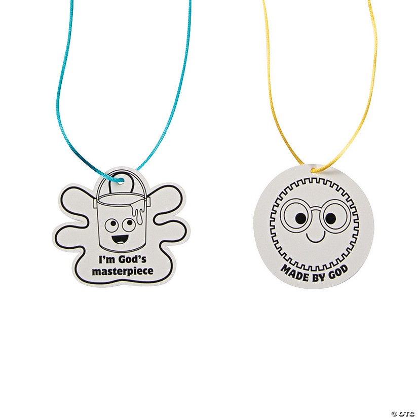 Color Your Own Geared Up for God VBS Necklaces