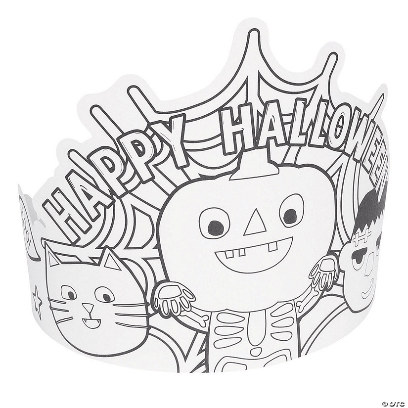 Color Your Own Ghoul Gang Crowns Image Thumbnail