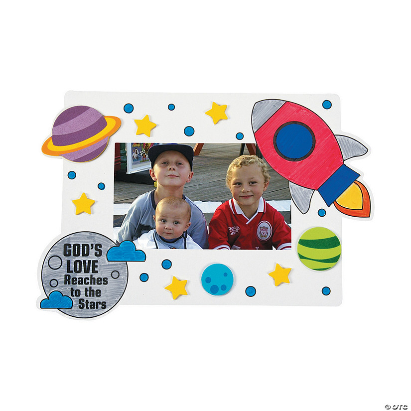 Color Your Own God's Galaxy VBS Picture Frame Magnets with Stickers Audio Thumbnail