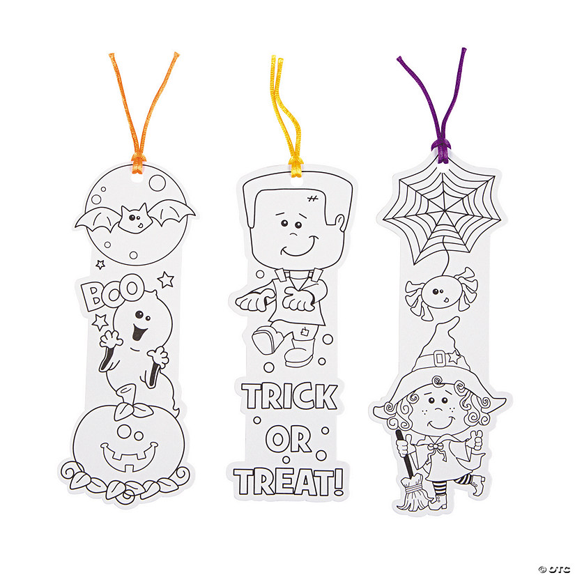 Color Your Own Halloween Friends Bookmarks