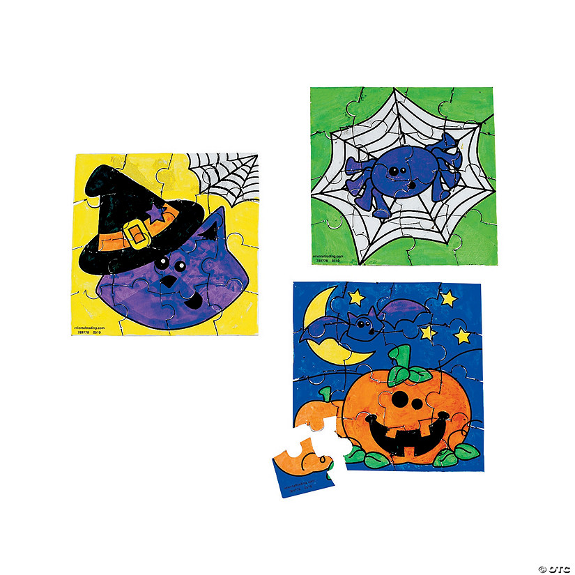 Color Your Own Halloween Friends Mini Puzzles Image Thumbnail