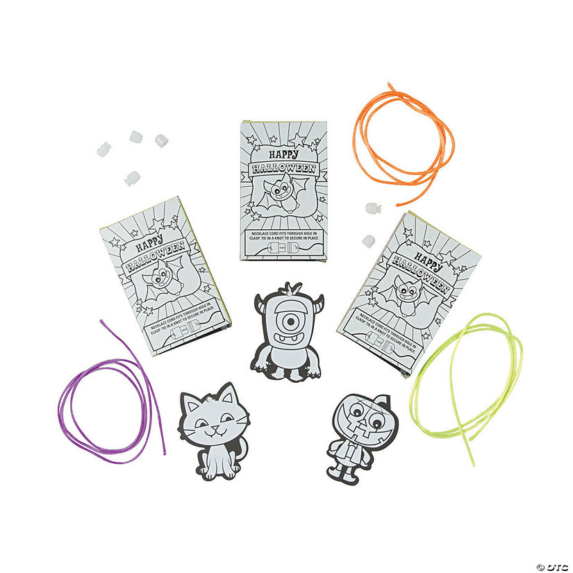 Color Your Own Halloween Necklace with Gift Box Craft Kit Audio Thumbnail