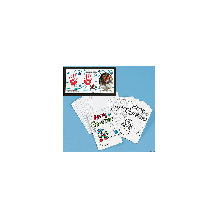 color your own handprint christmas card craft kit