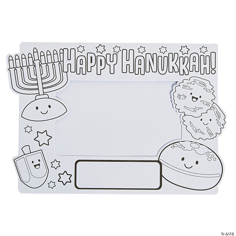 Color Your Own Hanukkah Picture Frames Audio Thumbnail