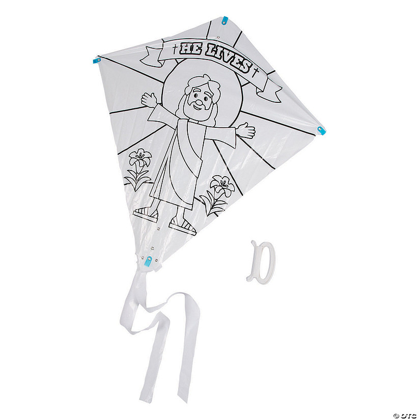 Color Your Own He Lives Kites Image Thumbnail
