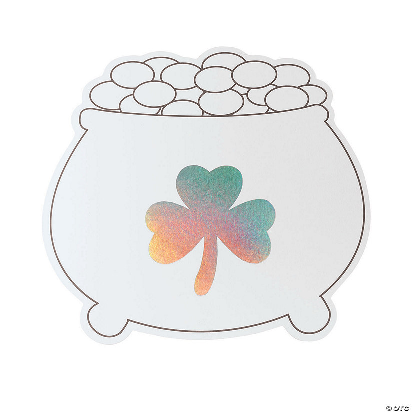 Color Your Own Iridescent Jumbo Pot of Gold Cutouts Image Thumbnail