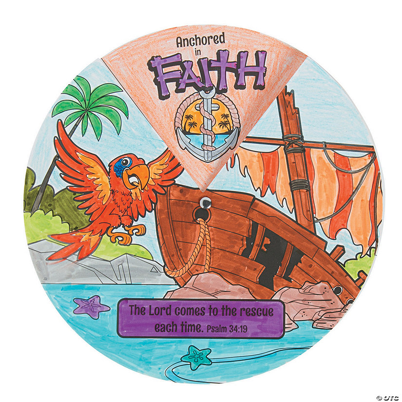 Color Your Own Island VBS Wheels