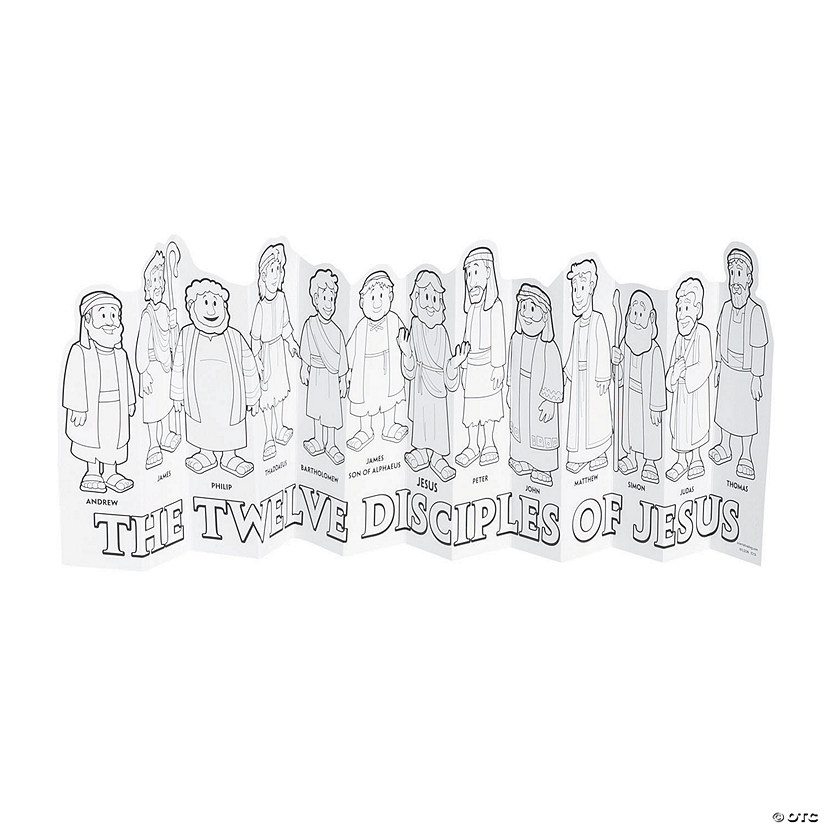 Color Your Own Jesus & 12 Disciples Accordion Stand-Ups Audio Thumbnail