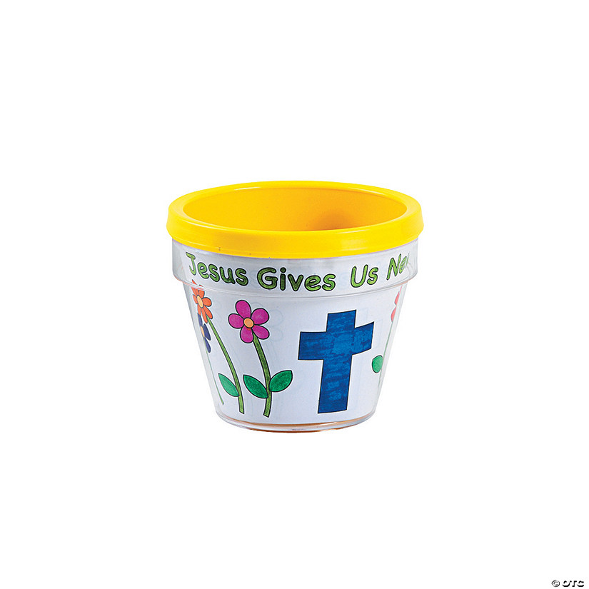 "Color Your Own ""Jesus Gives Us New Life"" Flowerpots Audio Thumbnail"