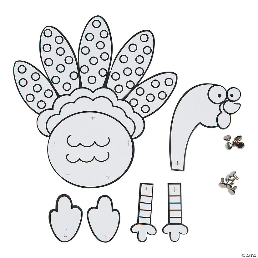 Color Your Own Jointed Turkeys
