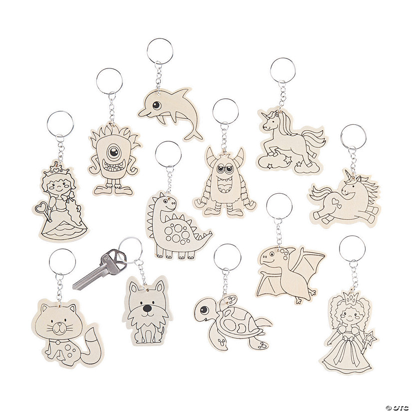 Color Your Own Keychain Assortment Image Thumbnail