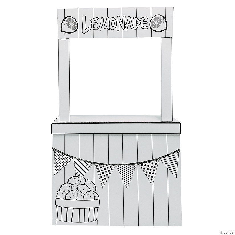 Color Your Own Lemonade Stand Playhouse Image Thumbnail