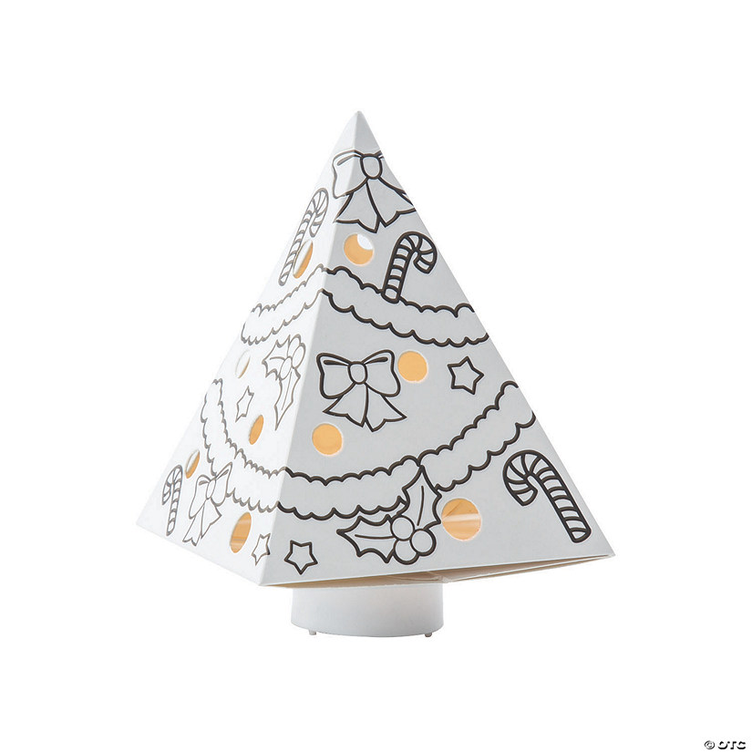 Color Your Own Luminary Christmas Trees Image Thumbnail