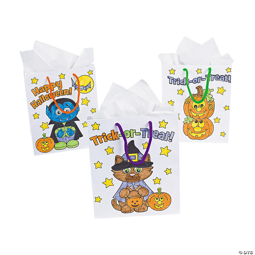 Color Your Own Medium Halloween Gift Bags Audio Thumbnail