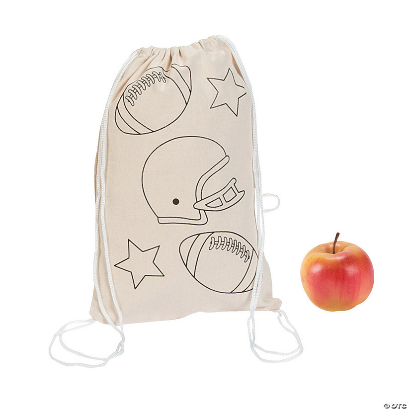 Color Your Own Medium Sportball Drawstring Bags Audio Thumbnail